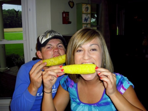 Matt. Meredith. Corn lovers extraordinaire.